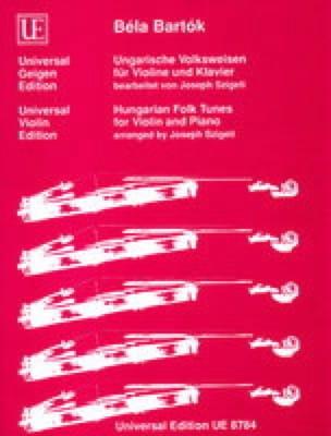 BARTOK - Ungarische Volksweisen für Violine und Klavier - Partition - di-arezzo.es