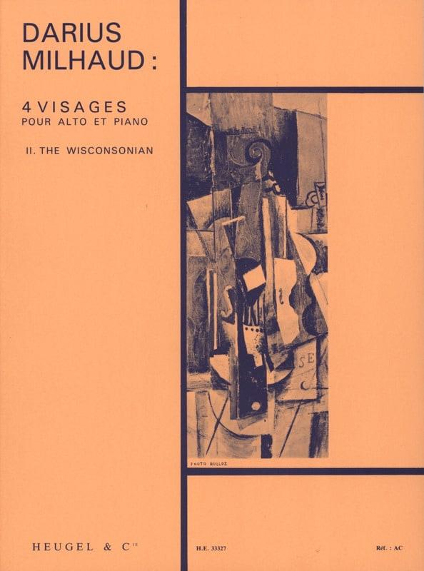 Darius Milhaud - 4 Faces - No. 2 The Wisconsonian - Partition - di-arezzo.com