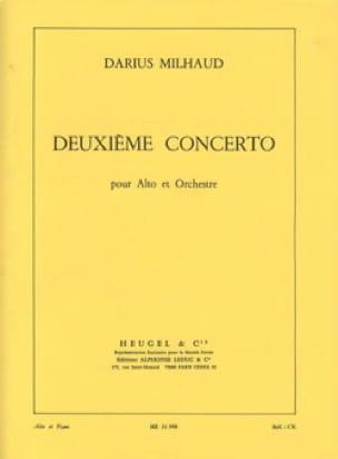 Concerto Alto n° 2 - MILHAUD - Partition - Alto - laflutedepan.com