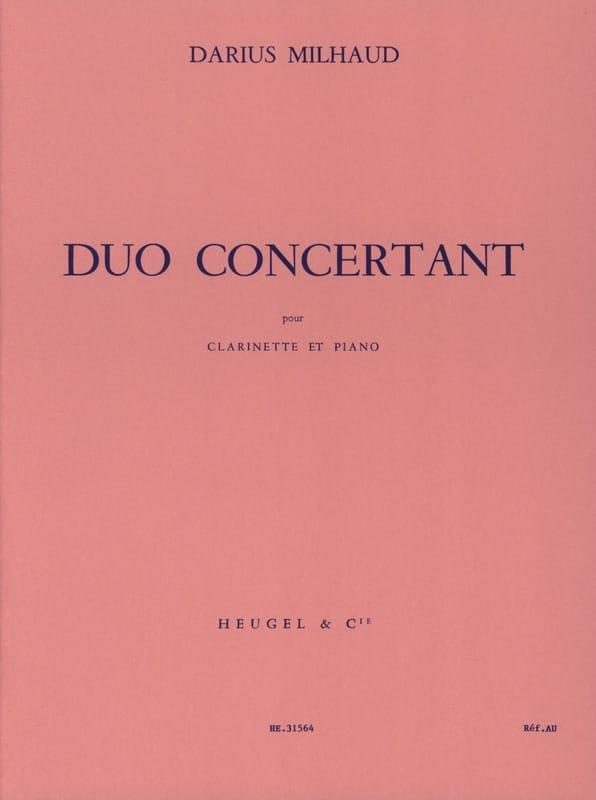 Duo Concertant - MILHAUD - Partition - Clarinette - laflutedepan.com