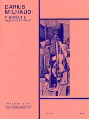 Darius Milhaud - Sonata No. 1 - Alto - Partition - di-arezzo.com