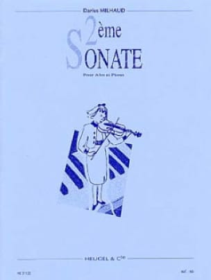 Darius Milhaud - Sonata No. 2 - Alto - Partition - di-arezzo.com