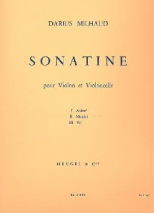 Sonatine - MILHAUD - Partition - 0 - laflutedepan.com