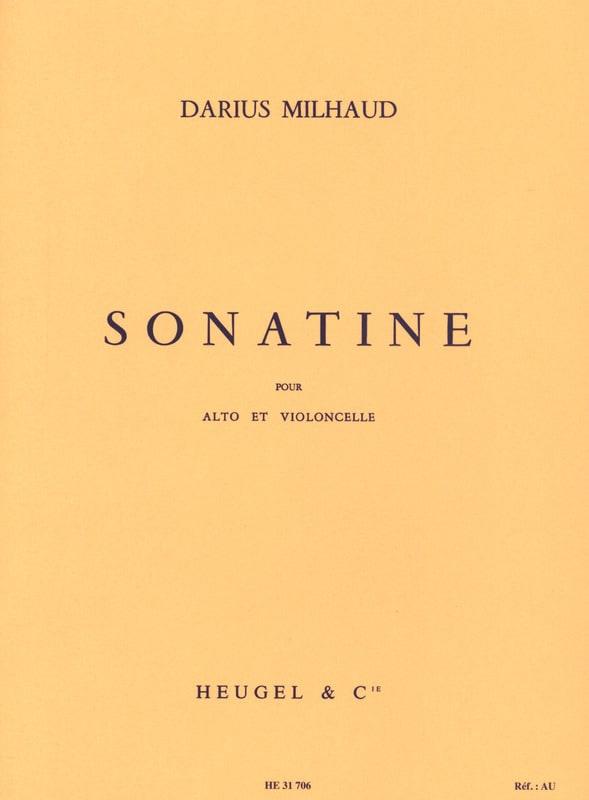 Sonatine - Alto et Violoncelle - MILHAUD - laflutedepan.com