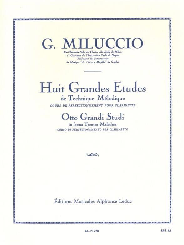 8 Grandes études - Giacomo Miluccio - Partition - laflutedepan.com