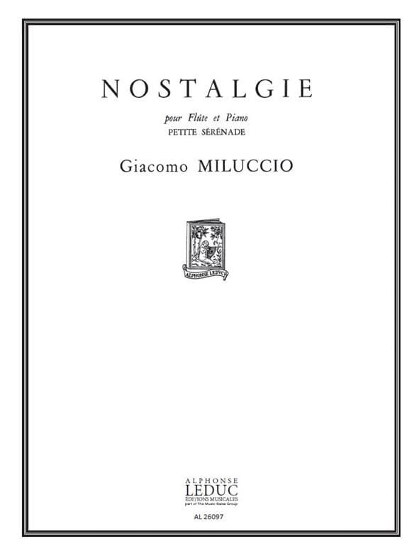 Nostalgie - Giacomo Miluccio - Partition - laflutedepan.com