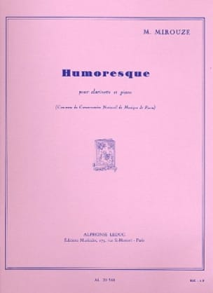 Humoresque - Marcel Mirouze - Partition - laflutedepan.com
