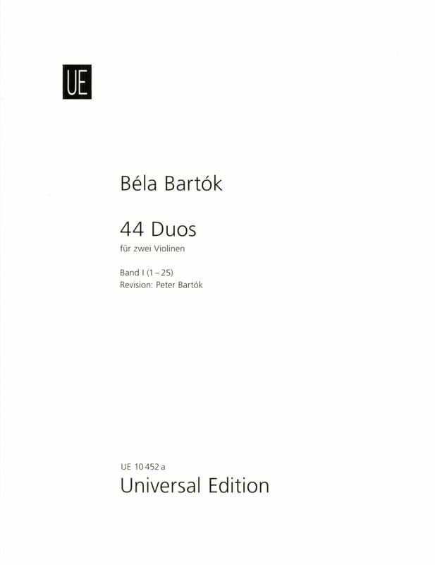 BARTOK - 44 Duos Volume 1 - 1-25 - Partition - di-arezzo.fr