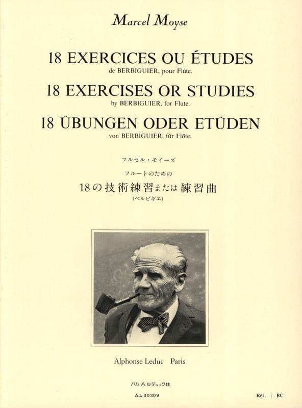 Berbiguier Benoît-Tranquille / Moyse Marcel - 18 Exercises or Studies - Partition - di-arezzo.com