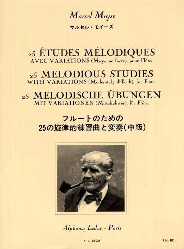 Marcel Moyse - 25 Melodic studies - Flute - Partition - di-arezzo.co.uk