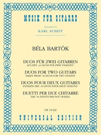 Duos 1931 - BARTOK - Partition - Guitare - laflutedepan.com