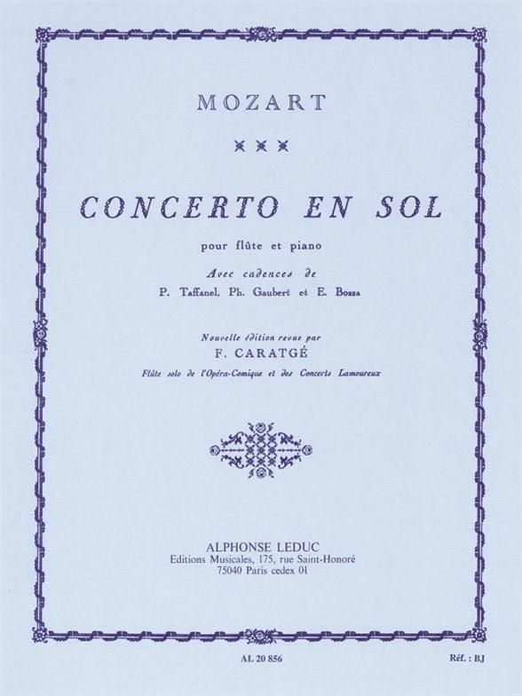 Concerto en sol majeur KV 313 - Flûte et piano - laflutedepan.com