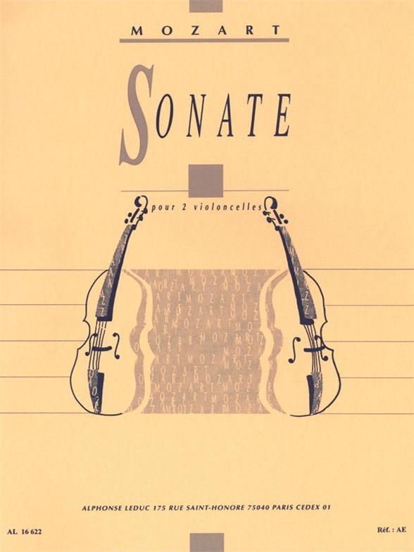 MOZART - Sonate - 2 Violoncelles - Partition - di-arezzo.fr