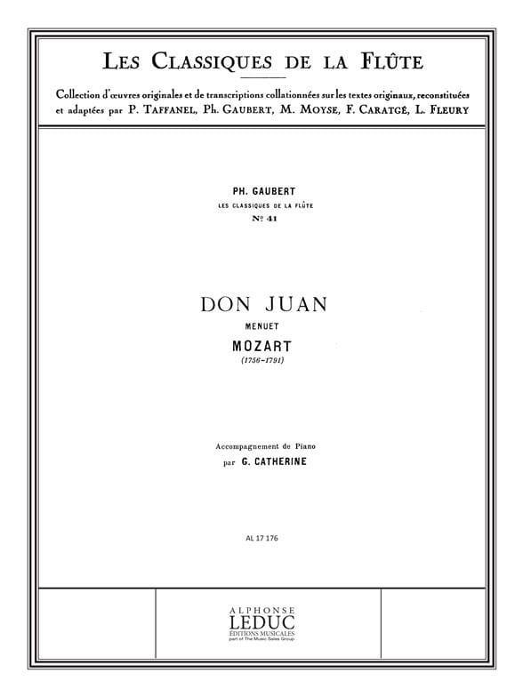 Don Juan : Menuet - Flûte piano - MOZART - laflutedepan.com