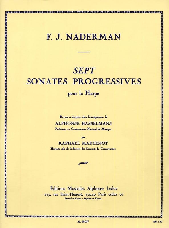 7 Sonates progressives - François-Joseph Naderman - laflutedepan.com