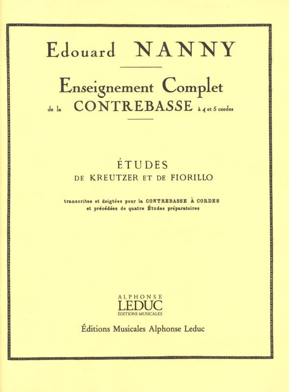 Edouard Nanny - Kreutzer and Fiorillo Studies - Double Bass - Partition - di-arezzo.co.uk