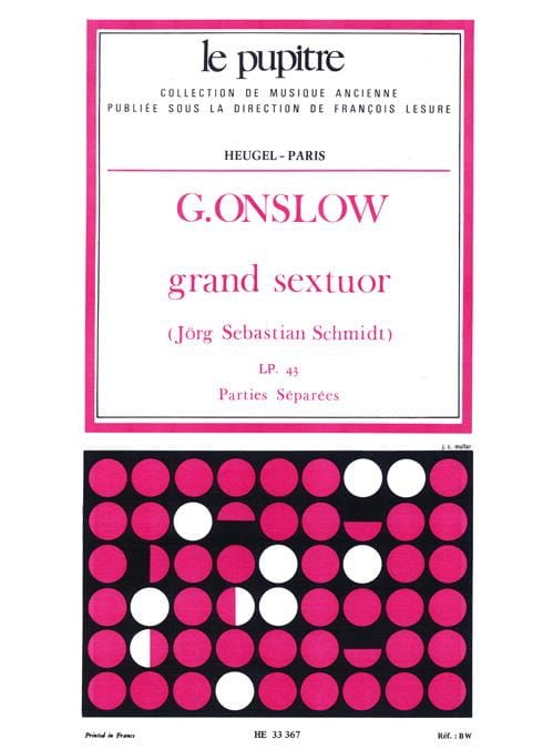 Grand Sextuor op. 77bis -Parties séparées - laflutedepan.com