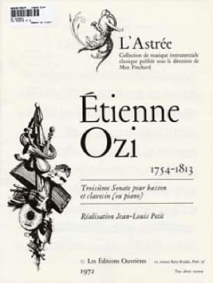 Sonate n° 3 pour basson et clavecin - Etienne Ozi - laflutedepan.com