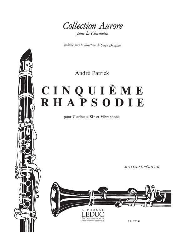 Rhapsodie n° 5 - André Patrick - Partition - laflutedepan.com