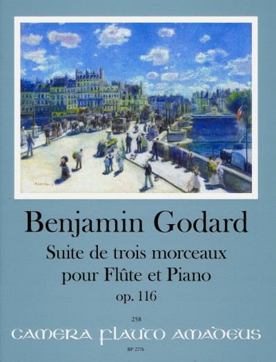 Benjamin Godard - Suite of 3 pieces, op. 116 - Flute and Piano - Partition - di-arezzo.co.uk