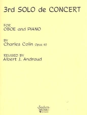 3ème Solo de Concert - Charles COLIN - Partition - laflutedepan.com