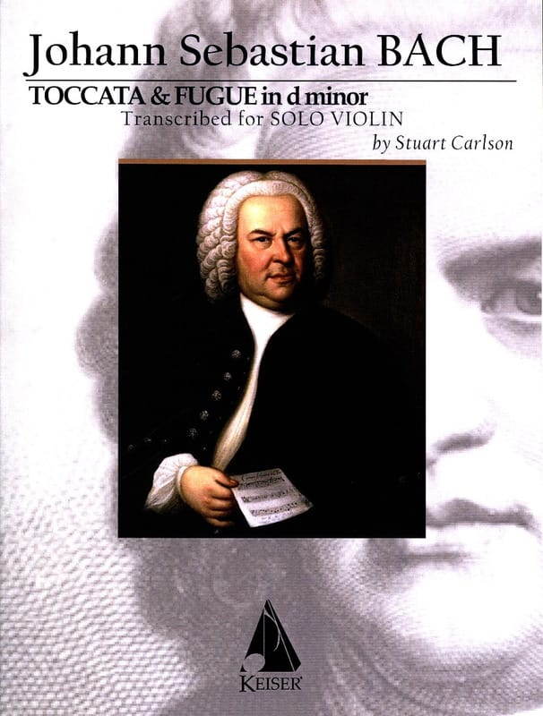 Johann Sebastian Bach - Toccata and Fugue - Violin solo - Partition - di-arezzo.co.uk