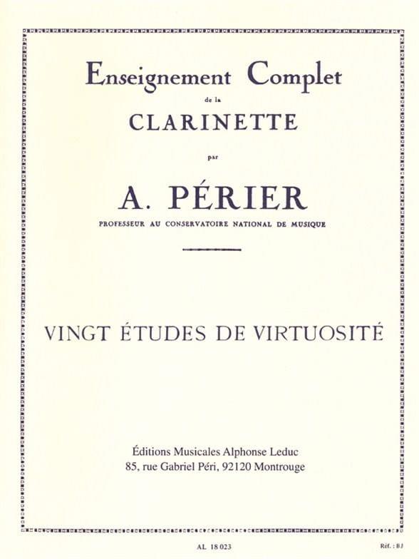 20 Etudes de virtuosité - Auguste Périer - laflutedepan.com