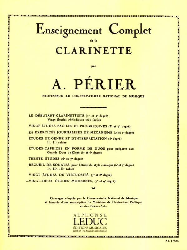 Auguste Périer - 22 Modern Studies - Partition - di-arezzo.com