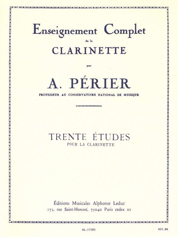 Auguste Périer - 30 Studies - Partition - di-arezzo.com
