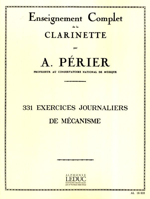 Auguste Périer - 331 Daily Mechanism Exercises - Partition - di-arezzo.com