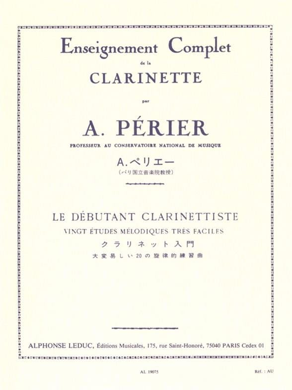 Auguste Périer - The Clarinetist Beginner - Partition - di-arezzo.com