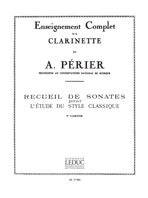 Auguste Périer - Sonata Collection - Volume 1 - Partition - di-arezzo.com