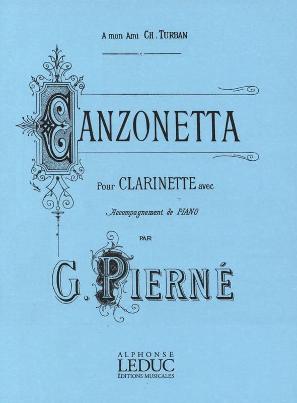 Canzonetta op. 19 - PIERNE - Partition - Clarinette - laflutedepan.com