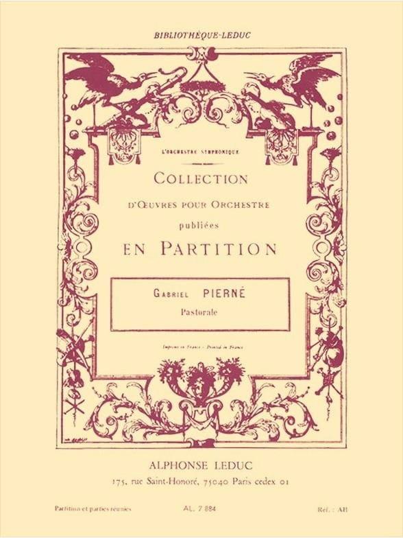Pastorale op. 14 n° 1 -Conducteur + parties - laflutedepan.com