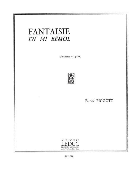 Fantaisie en mi bémol - Patrick Piggott - Partition - laflutedepan.com