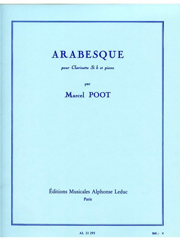 Arabesque - Marcel Poot - Partition - Clarinette - laflutedepan.com