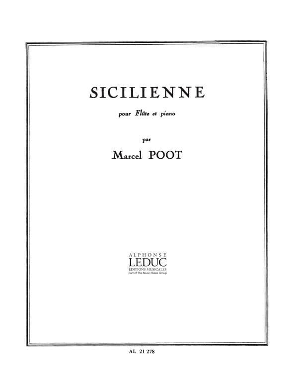 Sicilienne - Marcel Poot - Partition - laflutedepan.com