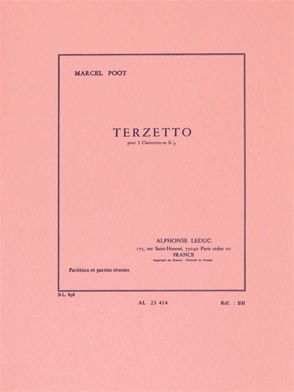 Terzetto - Marcel Poot - Partition - Clarinette - laflutedepan.com