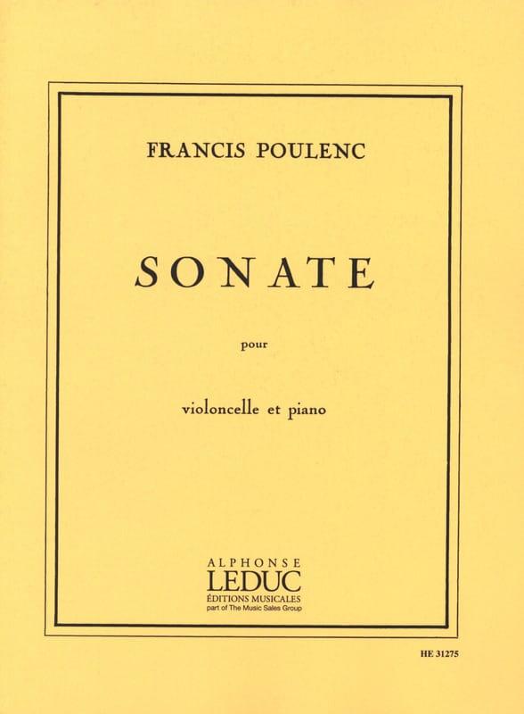Sonate - Violoncelle - POULENC - Partition - laflutedepan.com