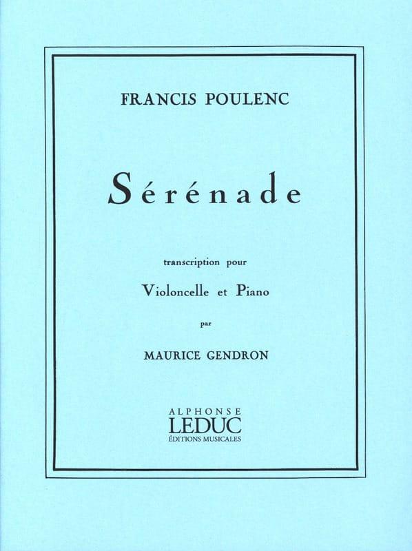 Sérénade - POULENC - Partition - Violoncelle - laflutedepan.com
