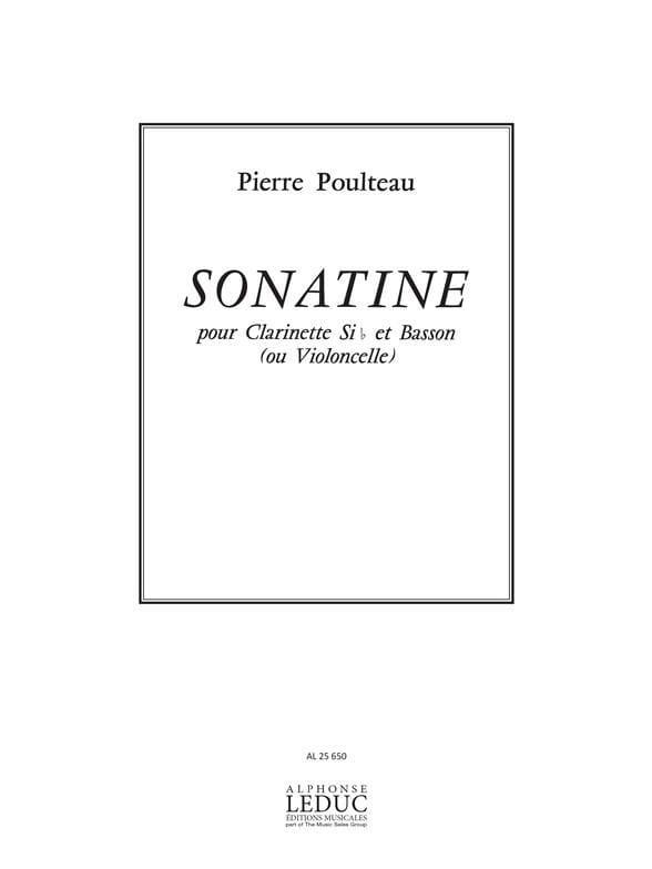 Sonatine - Clarinette et basson - Pierre Poulteau - laflutedepan.com