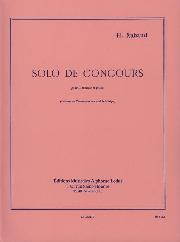 Solo de Concours Op. 10 - Henri Rabaud - Partition - laflutedepan.be
