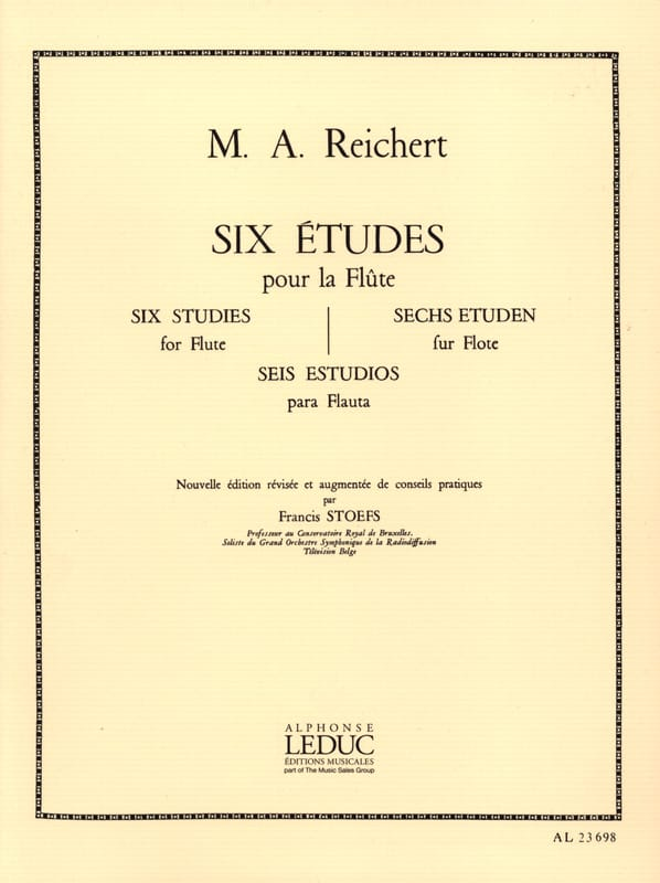 Mathieu André Reichert - 6 Studies op. 6 - Flute - Partition - di-arezzo.co.uk