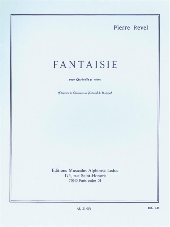 Fantaisie - Pierre Revel - Partition - Clarinette - laflutedepan.com