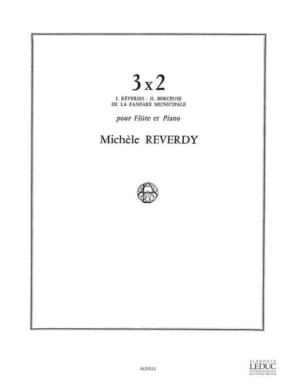 3x2 - Flûte et piano - Michèle Reverdy - Partition - laflutedepan.com