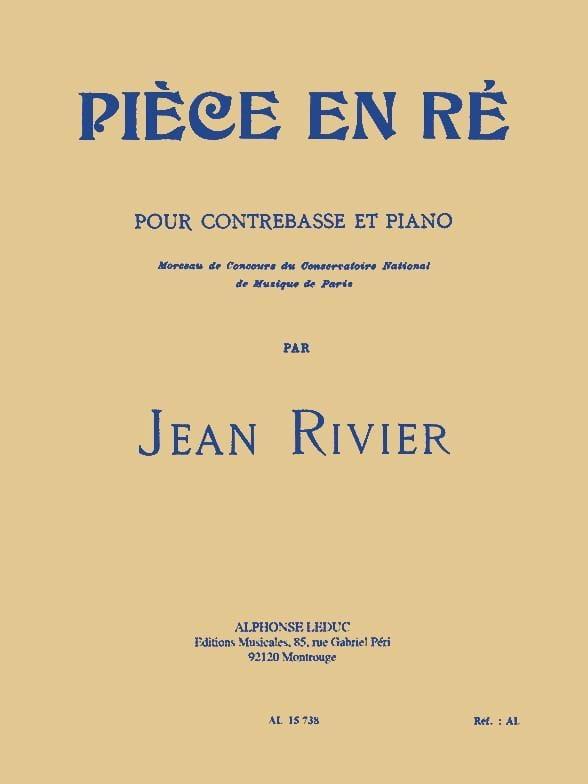 Piece en ré - Contrebasse - Jean Rivier - Partition - laflutedepan.com