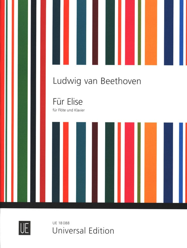 BEETHOVEN - Für Elise Albumblatt - Flöte Klavier - Partition - di-arezzo.co.uk
