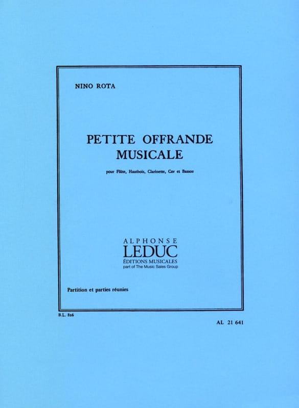 Petite offrande musicale -Partition + parties - laflutedepan.com
