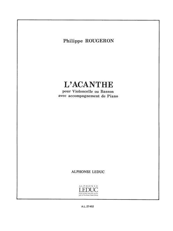L'Acanthe - Philippe Rougeron - Partition - laflutedepan.com