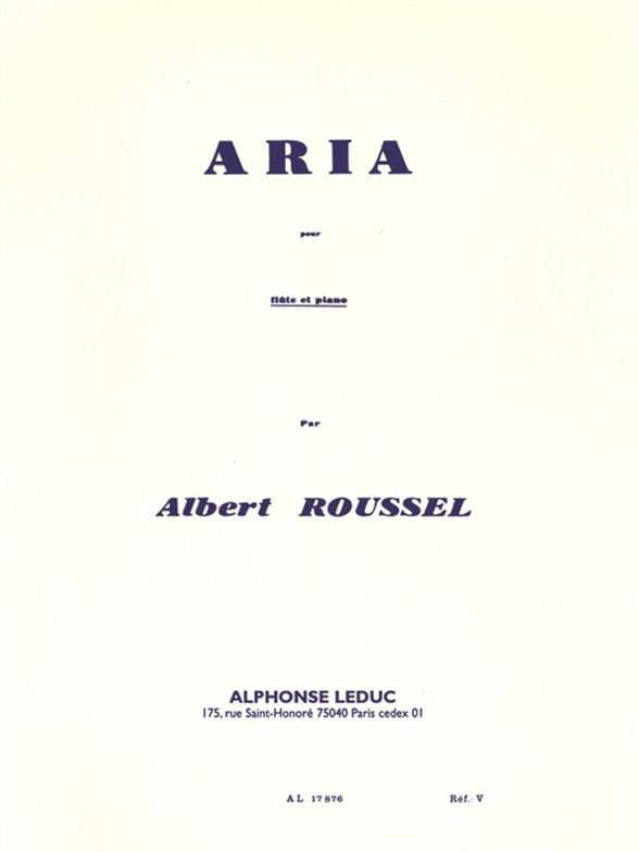 Aria - Flûte et piano - ROUSSEL - Partition - laflutedepan.com